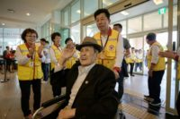 Elderly South Koreans like Kim Bong-eoh will meet family members in the North later Monday