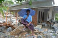 Entire villages in Kerala have been swept away in the state's worst floods in a century