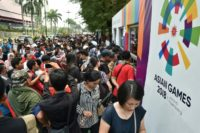 Fans queued for hours in Jakarta for Asian Games tickets.