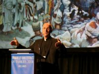 US Jesuit priest James Martin speaks at the World Meeting of Families in Dublin on August 23, 2018