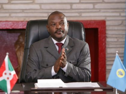 Burundi's President Pierre Nkurunziza, pictured June 2018, has decided not to seek reelection, but the UN Security Council has criticised the slow progress in talks between Burundi's government and the opposition