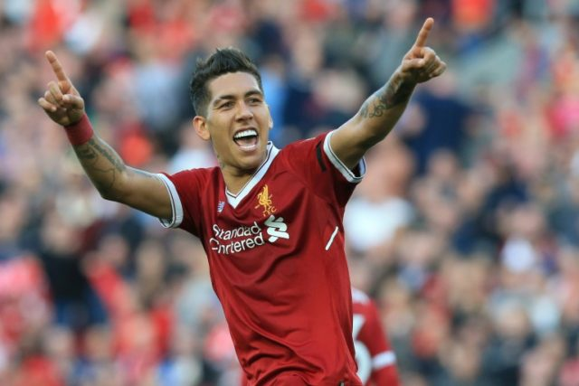 Liverpool forward Roberto Firmino scored 27 goals for Liverpool in the 2017-18 season