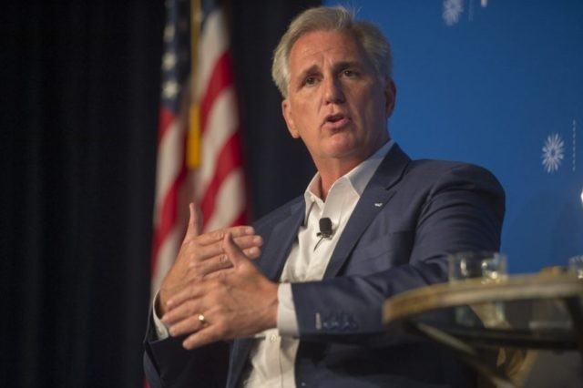 GOP's McCarthy slams California Democrats, faces heckling