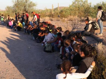 Tucson Sector Border Patrol agents apprehend a group of 121 illegal aliens north of the Lukeville, Arizona, port of entry on September 8, 2018. (Photo: U.S. Border Patrol/Tucson Sector)