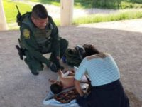 Border Patrol agents rescue unresponsive toddler near Rio Grande River border with Mexico. (Photo: U.S. Border Patrol)