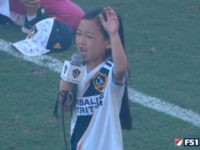 7-Year-Old Girl Wows Fans with National Anthem Performance at LA Galaxy Game