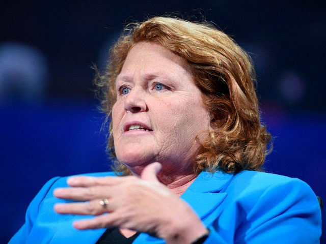 NEW YORK, NY - SEPTEMBER 19: North Dakota Senator Heidi Heitkamp speaks at the 2016 Concordia Summit - Day 1 at Grand Hyatt New York on September 19, 2016 in New York City. (Photo by Riccardo Savi/Getty Images for Concordia Summit)