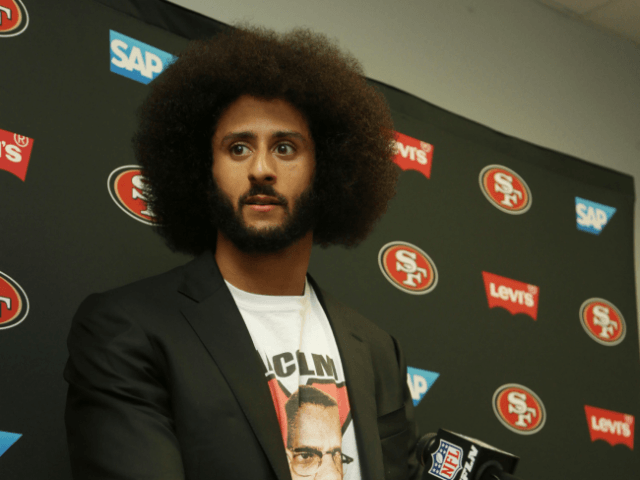 Kaepernick watches ad's TV debut at Nike HQ