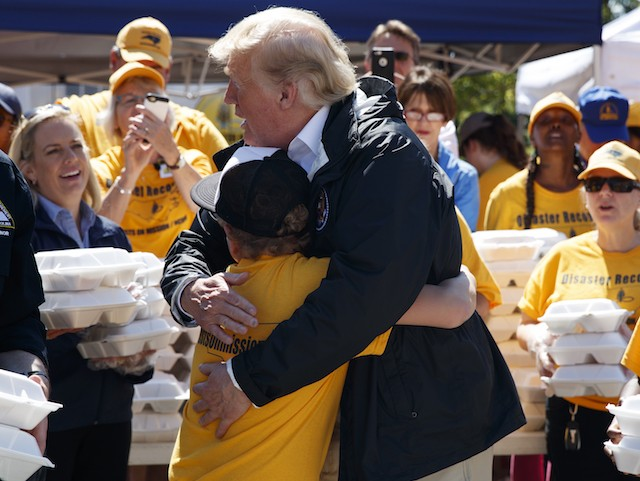 North Carolina Boy Asks Donald Trump for a Hug After Hurricane Florence | Breitbart