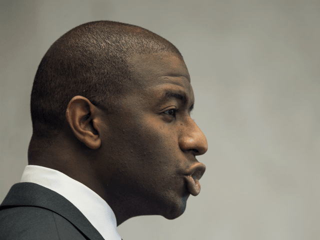 Tallahassee Mayor and candidate for Florida governor, Andrew Gillum, speaks during the Florida AP Legislative Day at the Florida Capitol Thursday, Nov. 2, 2017, in Tallahassee, Fla. (AP Photo/Mark Wallheiser)