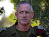 Israel Defense Forces Chief of Staff, General Benny Gantz talks to the press near Israel's border with the Gaza Strip on July 20, 2014. The number of Palestinians killed in Israeli attacks in the Gaza Strip on July 20 was at least 100. It was the bloodiest single day in …