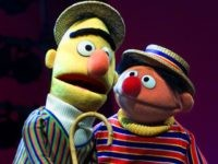 "FILE - In this Aug. 22, 2001 file photo, Muppets Bert, left, and Ernie, from the children's program ""Sesame Street,"" are shown in New York. Kermit the Frog, Miss Piggy, Bert and Ernie of ""Sesame Street"" fame, the stars of ""Fraggle Rock"" and other puppets, costumes and items from throughout …"
