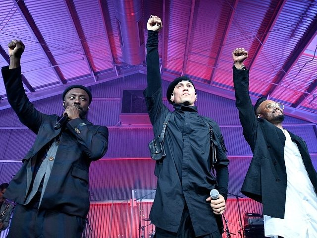(L-R) will.i.am, Taboo, and apl.de.ap of Black Eyed Peas perform onstage at will.i.am's i.am.angel Foundation TRANS4M 2018 Gala, Honoring Sean Parker, Chairman, Parker Institute for Cancer Immunotherapy at Milk Studios on February 20, 2018 in Hollywood, California. (Photo by Kevork Djansezian/Getty Images for i.am.angel Foundation)