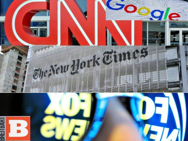 CNN, Google, NYT, Fox News, Breitbart Logos