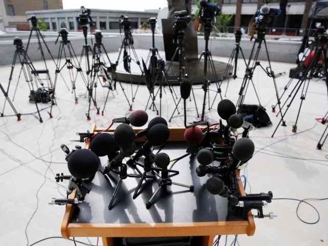 Cameras focused on speaker