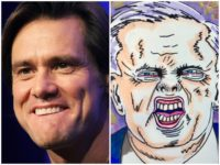 Mario Tama/Getty Images / @jimcarrey Twitter screenshot