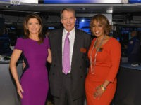 'CBS This Morning' co-hosts Norah O'Donnell, Charlie Rose and Gayle King visit the New York Stock Exchange on December 10, 2013 in New York City. (Photo by Slaven Vlasic/Getty Images)