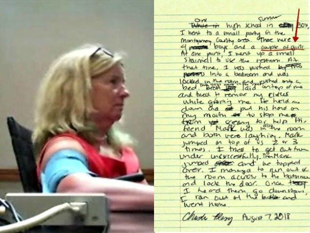 Christine Blasey Ford Lie Detector Test, Note