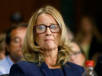 Christine Blasey Ford speaks during a hearing of the Senate Judiciary Committee, Thursday, Sept. 27, 2018 on Capitol Hill in Washington. (Michael Reynolds/Pool Image via AP)