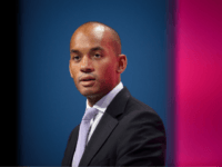 Britain's Shadow Business Secretary Chuka Umunna addresses delegates during the second day of the Labour Party conference in the main hall of Manchester Central, in Manchester, on September 22, 2014. AFP PHOTO/LEON NEAL (Photo credit should read LEON NEAL/AFP/Getty Images)