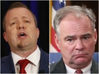 Combo picture of Corey Stewart and Tim Kaine
