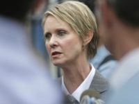 New York democratic gubernatorial candidate Cynthia Nixon talks to reporters in New York, Wednesday, Sept. 12, 2018. Polls may show her far behind New York Gov. Andrew Cuomo in Thursday's Democratic primary, but Nixon says she knows something that Cuomo and the pollsters don't. There's a movement, she says, of …