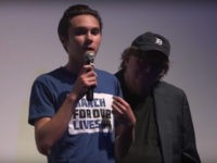 David Hogg and Michael Moore in Canada