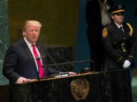 President Donald Trump addresses the 73rd session of the United Nations General Assembly, Tuesday, Sept. 25, 2018 at U.N. headquarters. (AP Photo/Mary Altaffer)