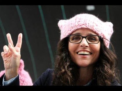 ALos Angeles CA - JANUARY Julia Louis-Dreyfus, At Women's March Los Angeles, At Downtown Los Angeles In California on January 21, 2017. Credit: Faye Sadou/MediaPunch/IPX