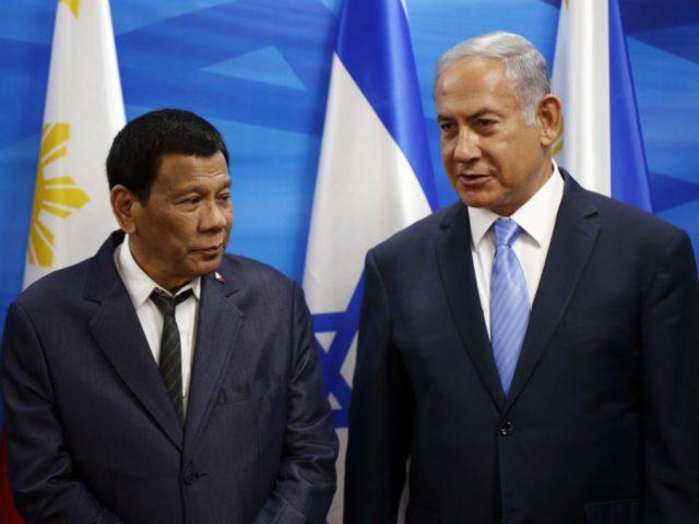 Duterte Netanyahu (Ronen Zvulun / Associated Press)