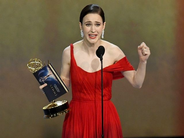 Rachel Brosnahan accepts the Outstanding Lead Actress in a Comedy Series award for 'The Marvelous Mrs. Maisel' onstage during the 70th Emmy Awards at Microsoft Theater on September 17, 2018 in Los Angeles, California. (Photo by Kevin Winter/Getty Images)