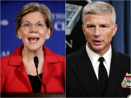 Sen. Elizabeth Warren and Navy Vice Adm. Craig Faller