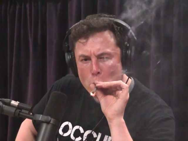 Elon Musk smokes marijuana during podcast