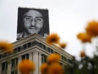 "SAN FRANCISCO, CA - SEPTEMBER 05: A billboard featuring former San Francisco 49ers quaterback Colin Kaepernick is displayed on the roof of the Nike Store on September 5, 2018 in San Francisco, California. Nike launched an ad campaign to commemorate the 30th anniversary of its iconic ""Just Do It' motto …"