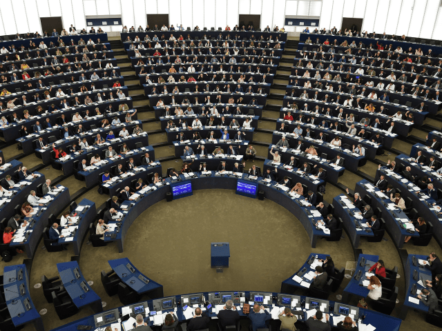 Members of the European Parliament take part in a voting session during a plenary session at the European Parliament on September 12, 2018 in Strasbourg, eastern France. (Photo by FREDERICK FLORIN / AFP) (Photo credit should read FREDERICK FLORIN/AFP/Getty Images)