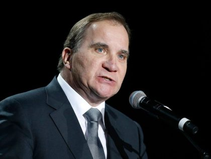 MALMO, SWEDEN - OCTOBER 31: Swedish Prime Minister Stefan Lofven gives a speech during the 'Together in Hope' event at Malmo Arena on October 31, 2016 in Malmo, Sweden. The Pope is on 2 days visit attending Catholic-Lutheran Commemoration in Lund and Malmo. (Photo by Michael Campanella/Getty Images)