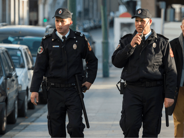 Moroccan police patrol the streets of the capital Rabat in their new uniform that was issued on January 11, 2017. / AFP PHOTO / FADEL SENNA (Photo credit should read FADEL SENNA/AFP/Getty Images)