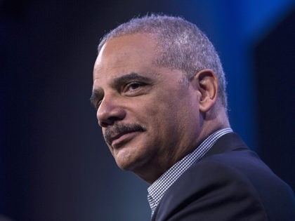 WASHINGTON, DC - FEBRUARY 27: Former U.S. Attorney General Eric Holder speaks during an interview at the Washington Post on February 27, 2018 in Washington, DC. During an interview with Washington Post writer Jonathan Capehart, Holder discussed Special Counsel Robert Muller's investigation into alleged Russian meddling in the 2016 US …