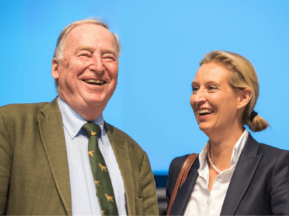AUGSBURG, GERMANY - JUNE 30: Alexander Gauland and Alice Weidel of the right-wing Alternative for Germany (AfD) political party attend the AfD federal congress on June 30, 2018 in Augsburg, Germany. The AfD is Germany's third-ranked party and rose to power mainly be exploiting popular unease over the wave of …