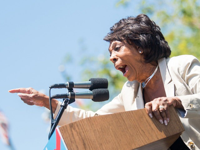 LOS ANGELES, CA - JUNE 30: Maxine Waters speaks onstage at 'Families Belong Together - Freedom for Immigrants March Los Angeles' at Los Angeles City Hall on June 30, 2018 in Los Angeles, California. (Photo by Emma McIntyre/Getty Images for Families Belong Together LA)