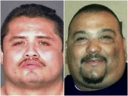 Joel Valera (L), 41, of Parlier, was convicted Thursday, Aug. 30, 2018, in Fresno Superior Court of first-degree murder in the 2014 slaying of his unnamed neighbor, Arthur Gomez Jr. (R) Fresno County Sheriff's Office