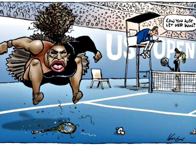 Aussie Newspaper Doubles Down on 'Racist' Serena Williams Cartoon