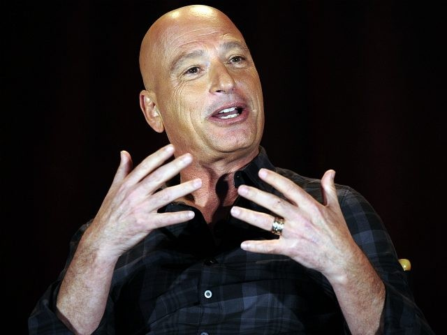 Judge Howie Mandel speaks during a panel discussion of reality competition series 'America's Got Talent' television show at the NBCUniversal Summer Press Day April 2, 2015, in Pasadena, California. (Photo by Kevork Djansezian/Getty Images)