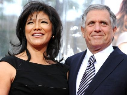 President & CEO, CBS Corp Les Moonves (R) and wife TV personality Julie Chen arrive at the premiere of CBS Films' 'The Back-up Plan' held at the Regency Village Theatre on April 21, 2010 in Westwood, California. (Photo by Frazer Harrison/Getty Images)