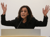 U.S. Sen. Kamala Harris (D-CA) speaks during a Policy Forum on Immigration at the California Endowment on February 22, 2017 in Los Angeles, California. Harris held two town hall style events in Southern California to speak with residents about contributions made by immigrants and refugees to the state's economy. (Photo …