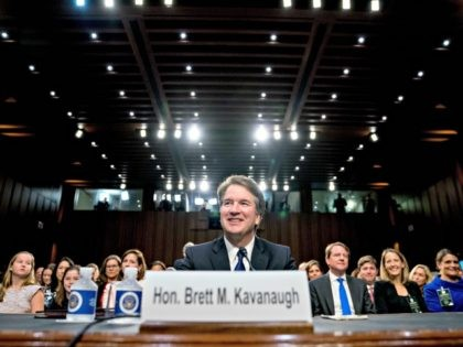 President Donald Trump's Supreme Court nominee, Brett Kavanaugh, a federal appeals court judge, appears before the Senate Judiciary Committee on Capitol Hill in Washington, Tuesday, Sept. 4, 2018, to begin his confirmation to replace retired Justice Anthony Kennedy.