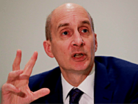 Lord Andrew Adonis, former Transport Secretary and a leader of the campaign 'Brexit is not a Done Deal', gestures as he speaks at The Clubhouse in central London on February 9, 2018. The main campaign groups who would like to see the UK remain in the European Union came together …