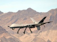 INDIAN SPRINGS, NV - NOVEMBER 17: (EDITORS NOTE: Image has been reviewed by the U.S. Military prior to transmission.) An MQ-9 Reaper remotely piloted aircraft (RPA) flies by during a training mission at Creech Air Force Base on November 17, 2015 in Indian Springs, Nevada. The Pentagon has plans to …