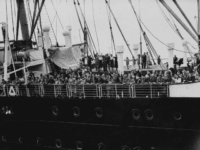 Refugees arrive in Antwerp on the MS St. Louis after over a month at sea, during which they were denied entry to Cuba, the United States and Canada, 17th June 1939. The St. Louis had originally sailed from Hamburg to Cuba, carrying over 937 mainly German-Jewish refugees from Nazi persecution. …