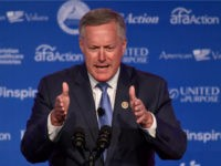 Rep. Mark Meadows, R-N.C., speaks at the 2018 Values Voter Summit in Washington, Saturday, Sept. 22, 2018. (AP Photo/Susan Walsh)